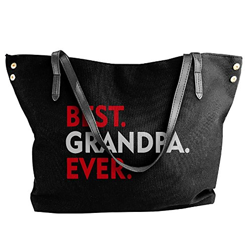Best Handbag Bag Hand Shoulder Tote Grandpa Women's Large Canvas Black Ever XqFIAwRWZx