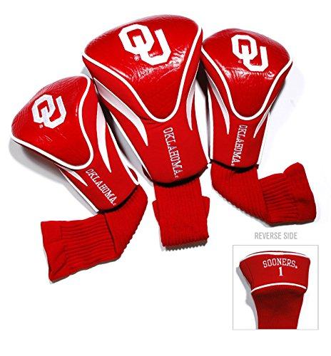 University of Oklahoma Contour Sock Headcovers (3 (Oversized 3 Pack Golf Headcovers)