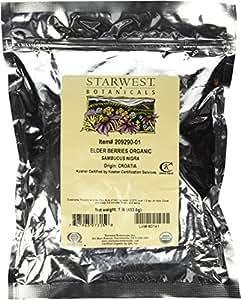 Starwest Botanicals Organic Elder Berries, 1 Pound Bulk