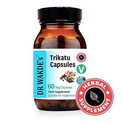 DR WAKDE'S® Trikatu Capsules I 100% Herbal I 60 Veggie Capsules I Ayurvedic Supplement I FREE SHIPPING on multiples I Quantity Discounts I Same Day Dispatch