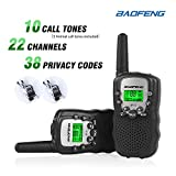 Baofeng T-3 Handheld Walkie Talkies For Kids & Adults, UHF 462.5625 - 467.7250MHz FRS/GMRS Two-Way Radio Transceiver For Children & Youth, 2 Waterproof Cases Included, Black, 1 Pair (2 Pcs)