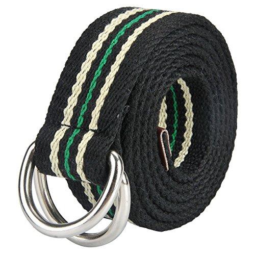 Black Leather Green Stripe - 5