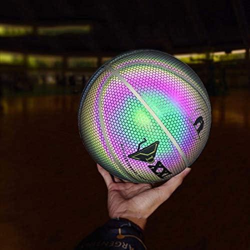 Liamostee gioco notturno con strada in PU per bambini luce arcobaleno Palla da basket illuminata