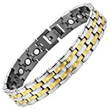 Willis Judd New Mens Titanium Magnetic Therapy Bracelet In Velvet Box with Free