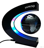 MOKOQI Levitation Floating Globe Rotating Magnetic Mysteriously Suspended in Air World Map Great Christmas Gift for Fathers Students Teacher