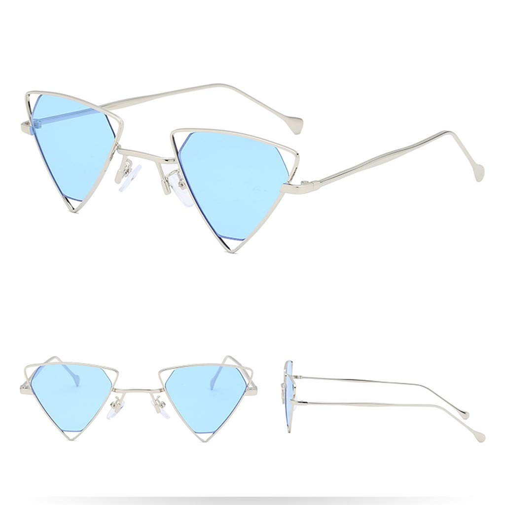 Alimao Exquisite Fashion Man Women Irregular Shape Pull the wind Sunglasses Glasses Vintage Retro Style Clearance sale