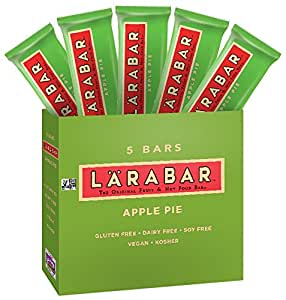 Larabar Fruit & Nut Food Bar Gluten Free Non-GMO Apple Pie 1.6 oz Bar, 5 Count