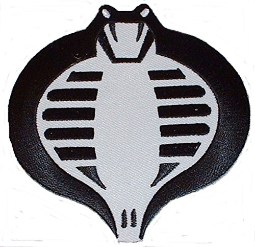 - G.I. JOE Cobra Black & White Logo Embroidered PATCH