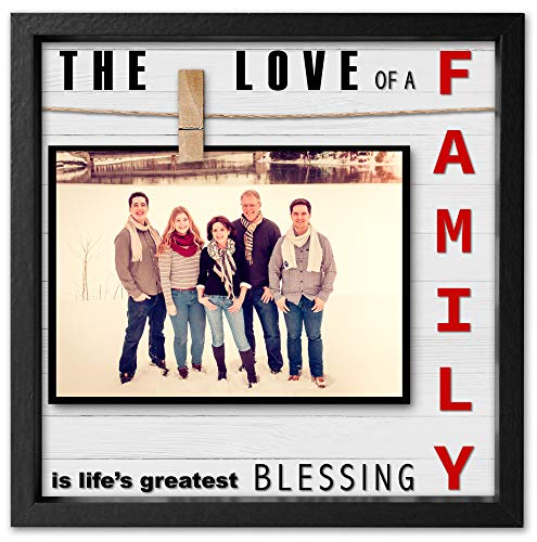 (Instant Inspirations Love of a Family Picture Frame 4x6 • 5x7 Anniversary Picture Frame for Wife or Husband. Cleverly Designed Love Photo Frame. Fits up to 7x7. Awesome Present for Mothers Day.)