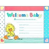 Little Suzy's Zoo Vintage Birth Announcements w/ Envelopes (8ct)