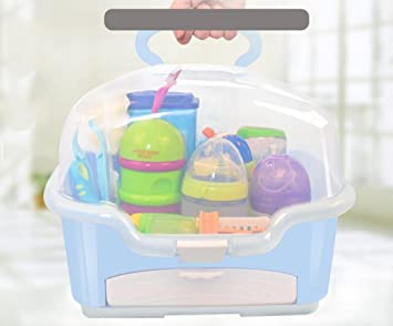 Attrayant Baby Bottle Storage Box Tableware Finishing Boxes Portable With Small  Drawer Dust Cover Drain Rack ,