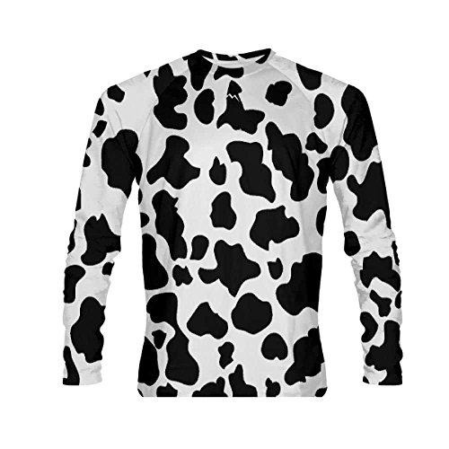 LightningWear Cow Long Sleeve Shirt Halloween Cow Costume for Kids and Adults -