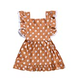 Backless Dress for Girls,Infant Baby Girl Kids Loose Strap Sleeveless Solid Colors Beach Dress Clothing,Girls' Dance Apparel,Navy,18-26M