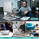 "Laptop Stand,Youbester Adjustable Multi-Angle Stand with Heat-Vent to Elevate Laptop, Aluminum Ergonomic Portable Computer Notebook Stand Compatible for MacBook,Dell,HP More 10-17"" Laptops"
