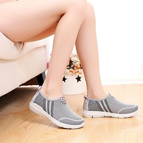 Chaussures Antidérapant GongzhuMM Dames Baskets Course 39 de Gris Noir Sneakers 36 pour Sport de sans Gris Lacets Femmes Rouge Chaussures EU w8BXv8xq