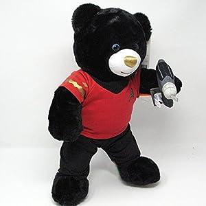 Build A Bear Musical Star Trek Teddy Bear in Red Star Trek Costume with Phaser Accessory