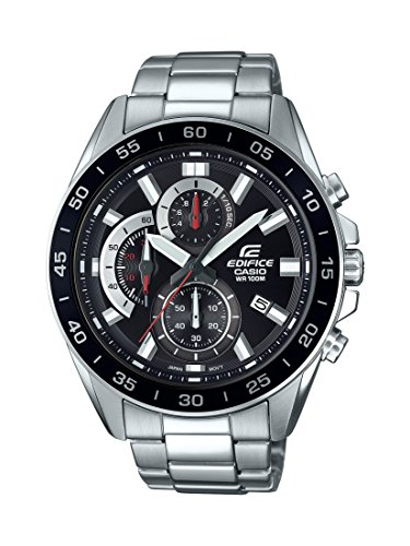 Casio Men's Edifice Quartz Watch with Stainless-Steel Strap, Silver, 4 (Model: EFV-550D-1AVCR ()