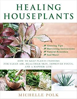 Book Cover: Healing Houseplants: How to Keep Plants Indoors for Clean Air, Healthier Skin, Improved Focus, and a Happier Life!