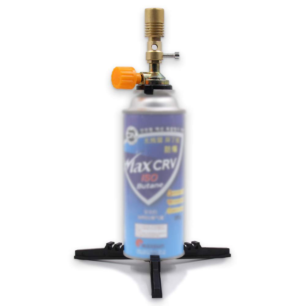 Upright Flame Torch Brass Bunsen Burner with Base for Butane Cartridge