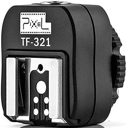 Pixel TF-322 Flash Hot Shoe Sync Adapter with Extra PC Sync Port Dedicated for Nikon DSLR /& Flashgun