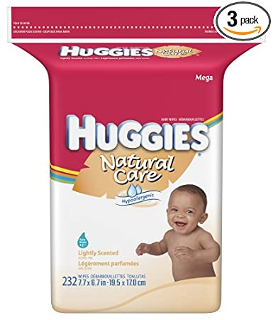 Huggies Natural Care Lightly Scented Baby Wipes Popup Refill, 232-Count Pack (Pack