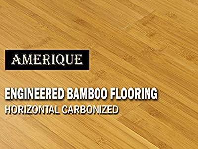 """20 Cartons of 621.80SQFT AMERIQUE Prefinished Engineered Bamboo Floor Glueless CLICK Horizontal Carbonized, Premium Grade, 7-1/2"""" X 9/16"""" X 74-3/4"""" with 4.5MM Top, 31.09SF/Ctn, 20Ctns"""