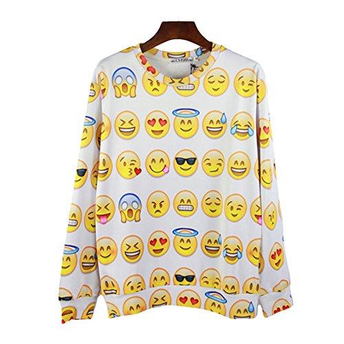 Men/women's Sweatshirts 3D Cartoon emoji expression funny pullover hoodies, S