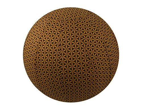 55cm Exercise Ball Cover, yoga ball cover, balance ball cover, birthing ball cover, 100% cotton - Chocolate Flower of Life by Global Groove Life