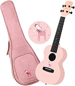 NEHARO Guitarra eléctrica Rosa Color 23 Pulgadas de 4 Cuerdas ...