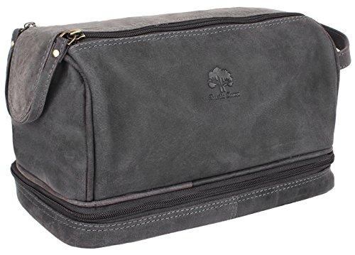 8716bbce4b Handmade Buffalo Genuine Leather Toiletry Bag Dopp Kit Shaving and Grooming  Kit for Travel ~ Gift