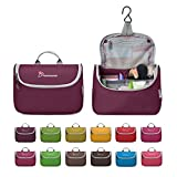 Mountaintop Toiletry Bag/Makeup Organizer/Cosmetic Bag/Portable Travel Kit Organizer/Household Storage Pack/Bathroom Storage with Hanging for Business,Vacation,Household with Hanging Hook Purplish Red