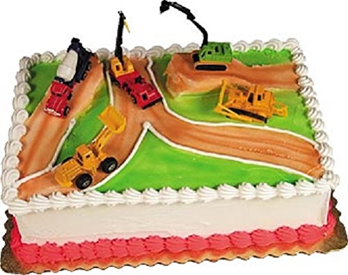 Oasis Supply Construction Zone Cake Decorating Kit, 1 (Baseball Decorating Kit)
