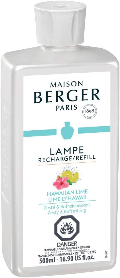 Hawaiian Lime - Lampe Berger Fragrance Refill for Home Fragrance Oil Diffuser - 16.9 Fluid Ounces - 500 milliliters