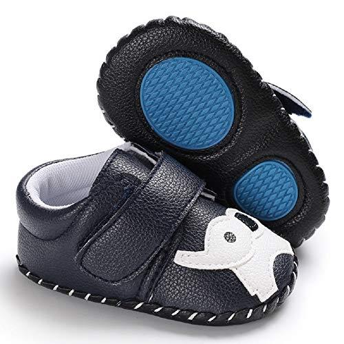Meckior Infant Baby Girls Sandas Summer Soft Leather No-Slip Princess Shoes (0-6 Months, G-deep Blue)