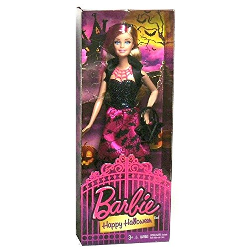 Barbie Outfits For Halloween (Mattel Year 2014 Barbie Halloween Series 12 Inch Doll - HAPPY HALLOWEEN Barbie (CCJ16) in Halloween Outfit with Purse, Headband, Necklace and Shoes)
