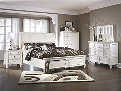 Printice Contemporary White Color Bed Room Furniture Collection