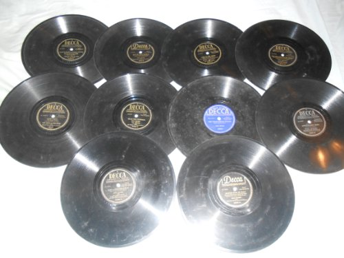 - 78 Records (rpm). 10 Pack Lot of Popular music from 1920's to 1940's