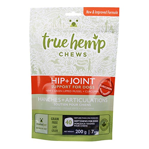 True Leaf Pet 40 Count Hemp Chews Hip + Joint Support for Dogs, 7 oz