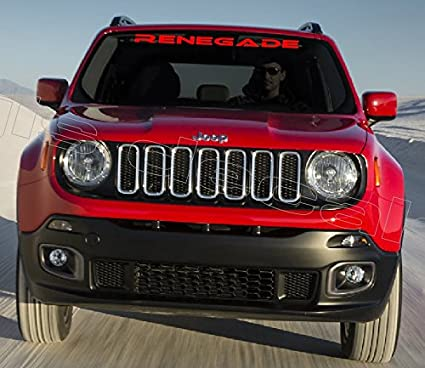 Red Jeep Renegade >> Jeep Renegade Windshield Decal Red Color 40 Inch
