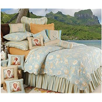 cu0026f home natural shells king size quilt set