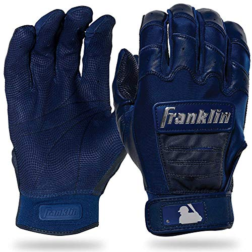 Franklin Sports CFX Pro Full Color Chrome Series Batting Gloves CFX Pro Full Color Chrome Batting Gloves, Navy, Adult Medium
