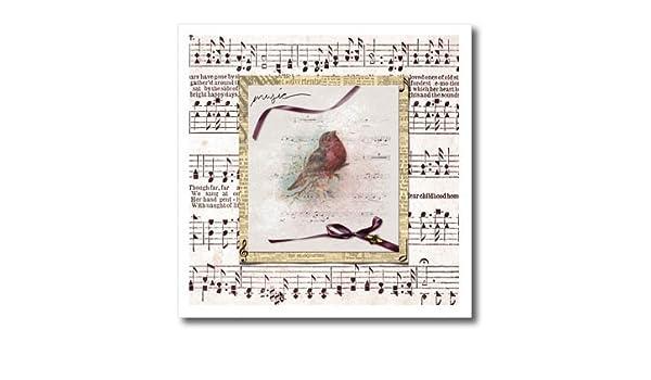 b188e493ba486 Amazon.com: 3dRose Beverly Turner Bird Design - Song Bird on Branch ...