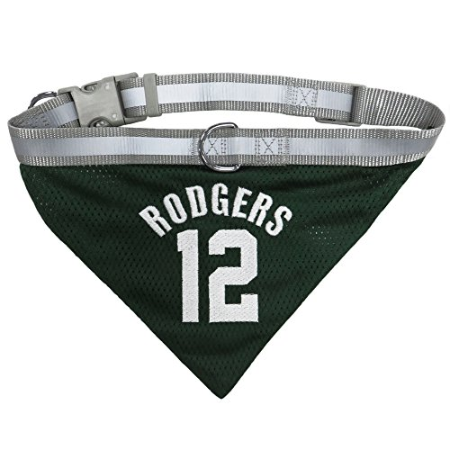 NFL Aaron Rodgers Green Bay Packers Adjustable Dog Bandana, Large