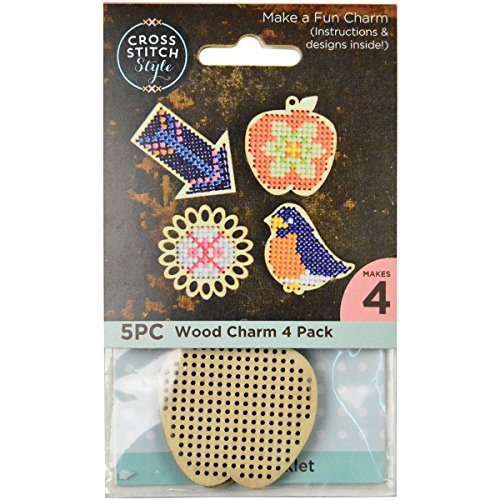- 3 Birds Wood Shapes Punched For Cross Stitch-4/Pkg