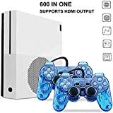 H&ZT Craft HD Retro Game Console, Built-in 600 Classic Games with 2Pcs Joystick for Children Gift, Support CP1, CP2, NEOGEO, Arcade