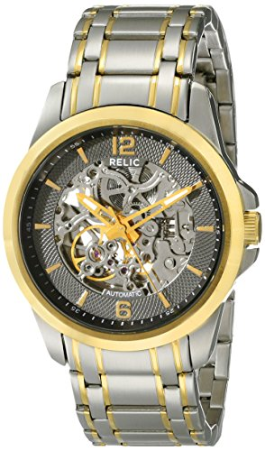 (Relic by Fossil Men's Cameron Automatic Stainless Steel Sport Watch, Color: Silver/Gold (Model:)