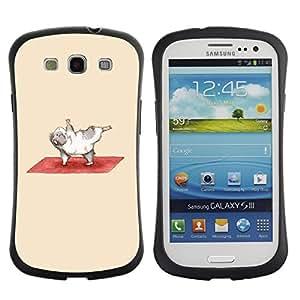 LASTONE PHONE CASE / Suave Silicona Caso Carcasa de Caucho Funda para Samsung Galaxy S3 I9300 / Exercise Guinea Pig Funny Cartoon