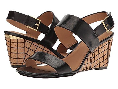 Calvin Klein Wedge (Calvin Klein Women's Peony Wedge Sandal, Black/Natural, 9 M US)