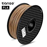 TIANSE Wood PLA 3D Printer Filament 1.75mm 1KG Spool Filament for 3D Printing, Dimensional Accuracy +/- 0.03 mm