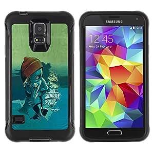 Suave TPU GEL Carcasa Funda Silicona Blando Estuche Caso de protección (para) Samsung Galaxy S5 V / CECELL Phone case / / sea face /